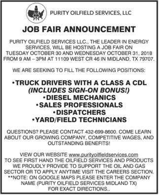 Job Fair Announcement