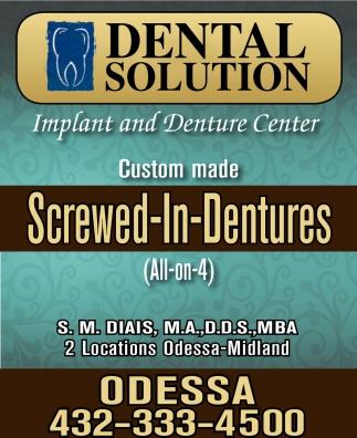 Screwed-In-Dentures