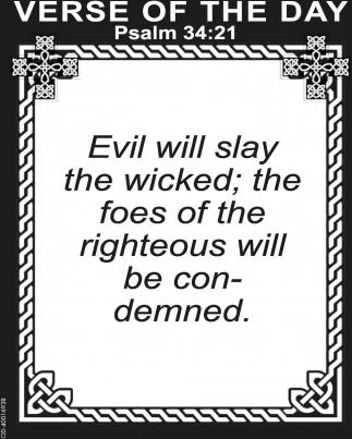 Psalm 34:21