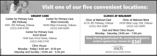 Visit One Of Our Five Convenient Locations
