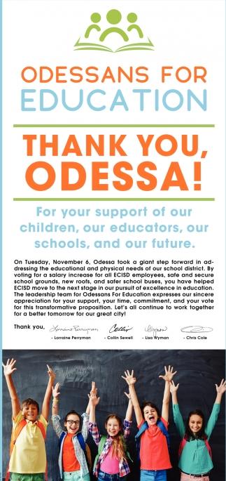 Thank You, Odessa!