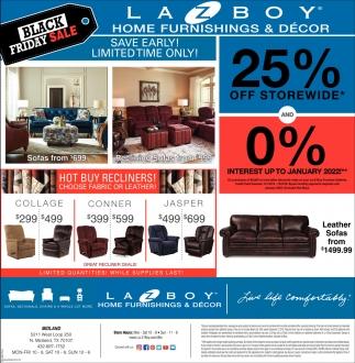 Black Friday Sale Lazboy Home Furnishings Decor