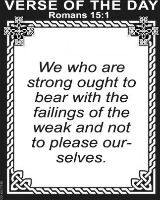 Romans 15:1