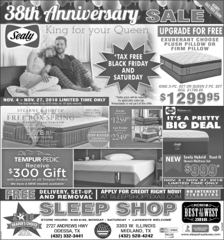 38th Anniversary Sale