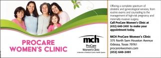 Procare Women S Clinic Mch Procare Odessa Tx