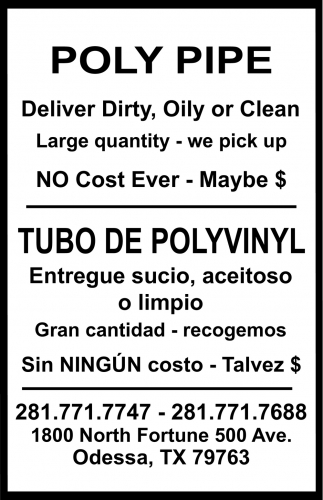 Poly Pipe/Tubo De Polyvinyl