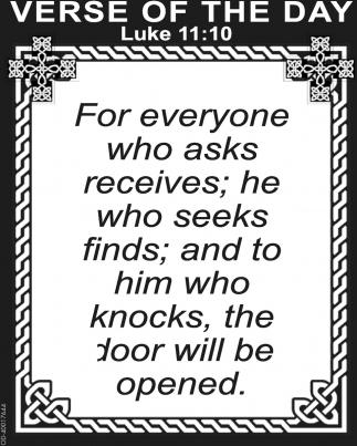 Luke 11:10
