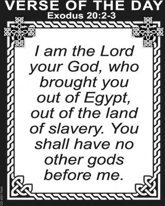 Exodus 20:2-3