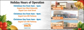 Holidays Hours Of Operation