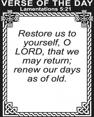 Lamentations 5:21