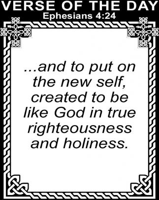 Ephesians 4:24