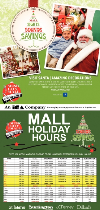 Mall Holiday Hours