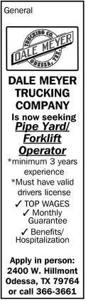 Pipe Yard/Forklift Operator