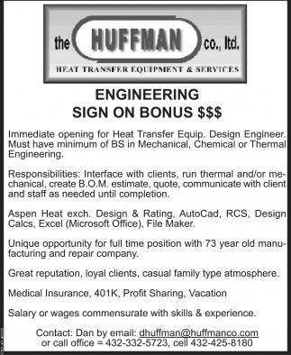 Engineering Sign  On Bonus