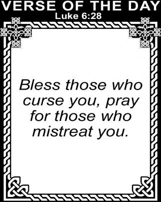 Luke 6:28