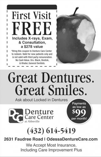 Great Dentures. Great Smiles.