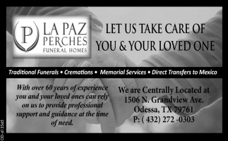 Let Us Take Care Of You & Your Loved One