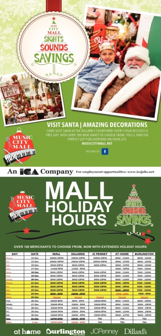 Mall Holiday Hours Music City Mall Odessa Tx