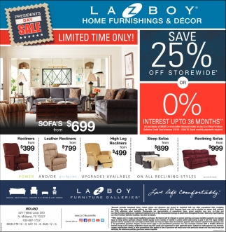 Presidents Day Sale Lazboy Home Furnishings Decor Midland Tx
