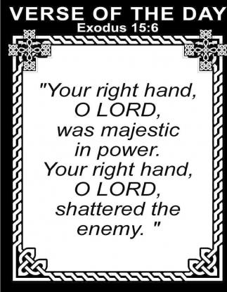 Exodus 15:6