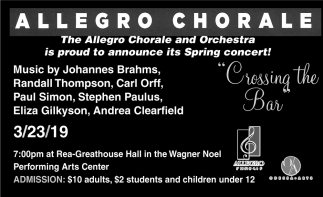Is Proud To Announce Its Spring Concert!