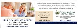 Mini-Dementia Workshops