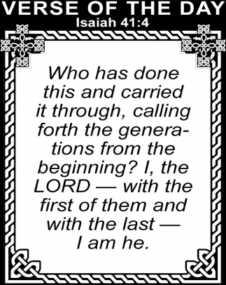 Isaiah 41:4