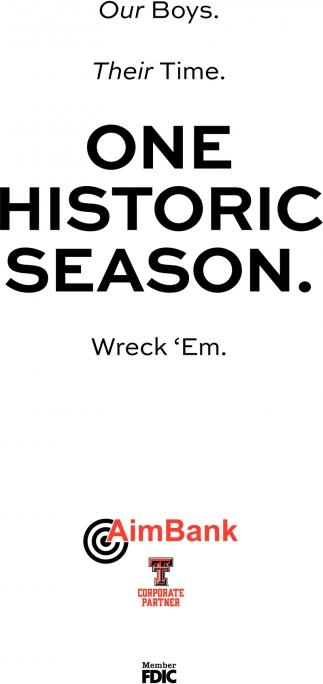 One Historic Season.