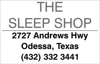 The Sleep Shop