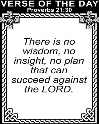 Proverbs 21:30