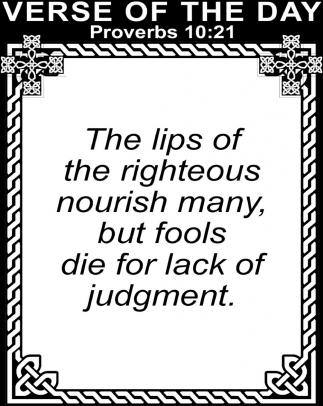 Proverbs 10:21