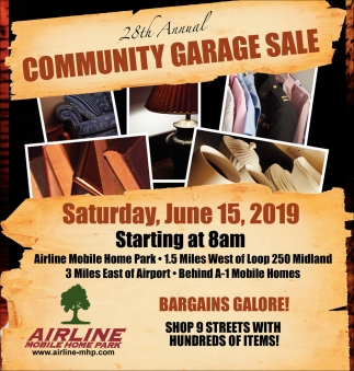 Brilliant 28Th Annual Community Garage Sale Airline Mobile Home Park Home Interior And Landscaping Palasignezvosmurscom