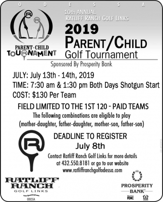 2019 Parent/Child Golf Tournament