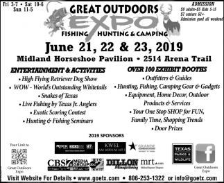 Great Outdoors Expo - Fishing, Hunting & Camping