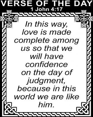 1 John 4:17