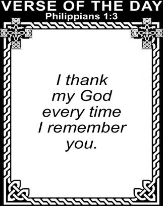 Philippians 1:3