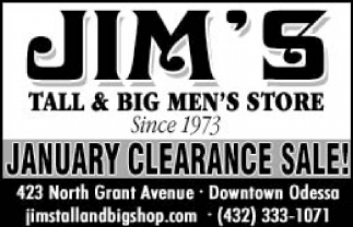 January Clearance Sale!