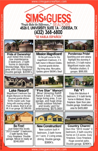 People Make The Difference, Sims & Guess Realtors , Odessa, TX