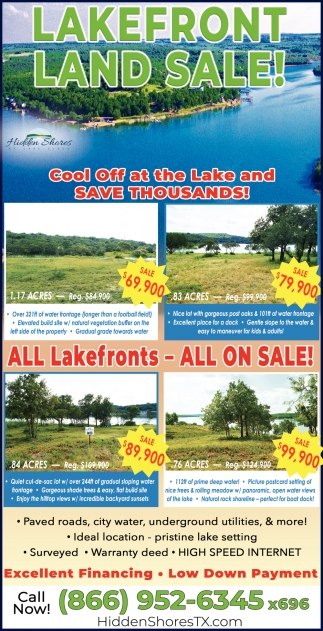 Lakefront Land Sale!