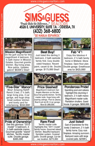 people make the difference sims guess realtors odessa tx odessa american