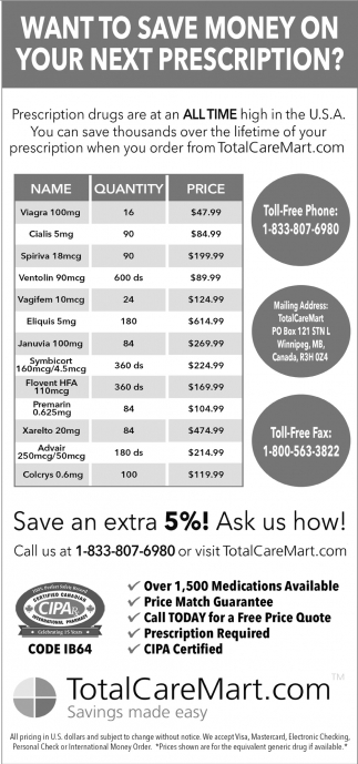 Want To Save Money On Your Next Prescription?