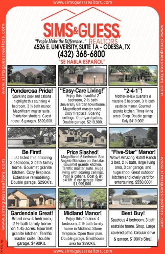 people make the difference sims guess realtors odessa tx sims guess realtors