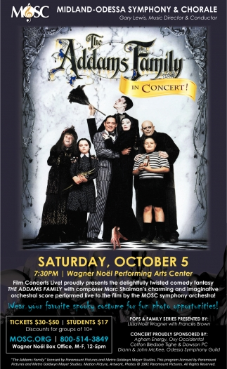 The Adams Family In Concert!