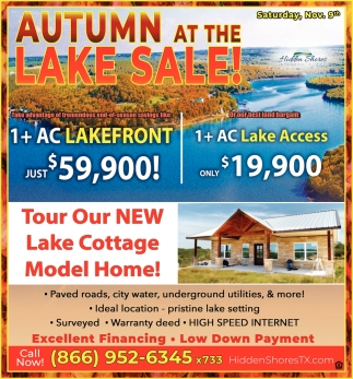 Autmn At The Lake Sale!