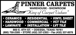 King Of Carpet Values