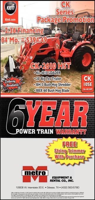 6 Year Power Train Warranty