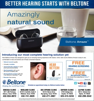 Better Hearing Starts With Beltone