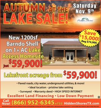Autumn At The Lake Sale!