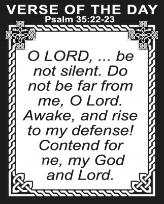 Psalm 35:22-23