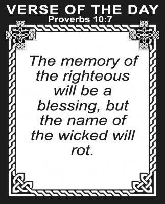 Proverbs 10:7
